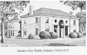 drawing of Garden City Public Library, 1958-1973