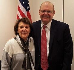 photo of Trustee Lola Nouryan and Board Chair J. Randolph Colahan