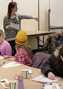YA Librarian Laura Giunta reviews flavors at the 'Oreo Cookie Taste Challenge' on 1/14/19.